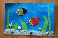 aquarium Paper Butterfly Crafts, Paper Butterflies, Paper Crafts, Ocean Crafts, Fish Crafts, Summer Crafts For Kids, Summer Kids, Fabrication D'aquarium, Aquariums