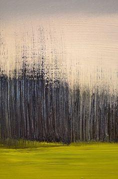 "Greens and Blues by Elsa Sroka Oil ~ 5.5"" x 11"""