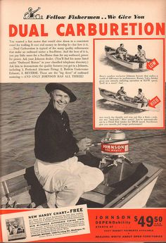 1940 Johnson Outboard Motor Advertisement Field & Stream May 1940 | by SenseiAlan