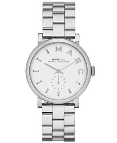 Marc by Marc Jacobs Watch, Women's Baker Stainless Steel Bracelet 37mm MBM3242 - Marc by Marc Jacobs - Jewelry & Watches - Macy's