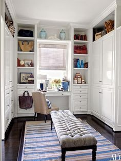 All too often, large closets become a dumping ground for items that are functional and practical but not the most visually appealing. Bring a little beauty to the space and watch your whole outlook brighten.
