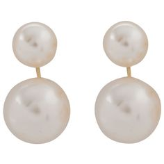 Suspended Pearl Earrings - White