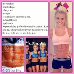 This is my workout inspiration! Cheer abletics (: x