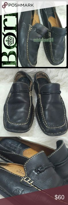 Born Leather Mules Clogs Born Signature Handcrafted Footwear in Black Leather Slip On Style Mules! Easy Slip On with Contrast Stitching Details Throughout! Features Luxurious Leather Upper and Lining! Patent Pending Handcrafted Pair with Soft Padded Footbed! Size 7 1/2, 38.5, M/W, Used in Mint Condition! Born Shoes Mules & Clogs
