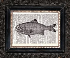 Check out this item in my Etsy shop https://www.etsy.com/listing/471165714/fish-on-dictionary-page-upcycled-book