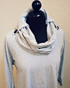 Trash To Couture: DIY: Convertible Cowl Neck Upcycle