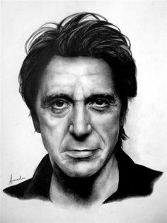 Pencil Portrait Al Pacino by frescasebrava on deviantART ~ traditional pencil art - Realistic Pencil Drawings, Amazing Drawings, Pencil Art Drawings, Celebrity Caricatures, Celebrity Drawings, Celebrity Portraits, Portrait Sketches, Pencil Portrait, Portrait Art