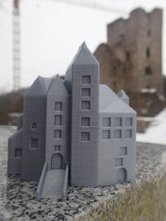 printed model of the original castle. Reconstructed from old paintings Castle Ruins, Old Paintings, 3d, The Originals, Printed, Places, Model, Scale Model, Lugares