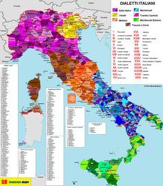 La mappa dei dialetti italiani   http://nicopaulangelo.wordpress.com/2014/07/02/la-mappa-dei-dialetti-italiani/ #dialetto #idioma #italiano #emiliano #ligure #pugliese #barese #veneto #italian #toscano #sardo #siciliano #calabrese #lucano #appulo #ciociaro #abruzzese #umbro #lingua #dialect #tongue #language #culture #culture #dialect