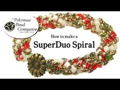 ▶ How to Make a SuperDuo Spiral - YouTube free tutorial from The Potomac Bead Company www.potomacbeads.com Buy Online: www.thebeadco.com