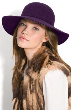 Bought this today in purple- I love hats! #fall hats