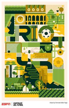 Rio - Poster for ESPN's show Capitales del Futbol