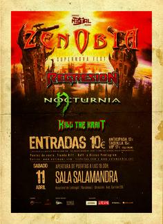 Nocturnia + Zenobia + Regresion + Kill the Krait en Hospitalet de Llobregat el 11 de abril 2015 en notikumi