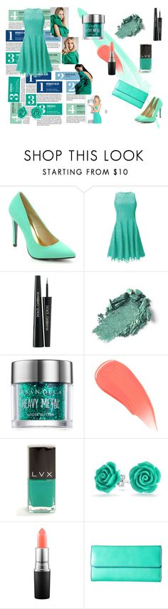 """""""A tale of turquoise!"""" by ash-nz on Polyvore featuring Garance Doré, Cape Robbin, Shoshanna, Dolce&Gabbana, Urban Decay, Burberry, LVX, Bling Jewelry, MAC Cosmetics and Lodis"""