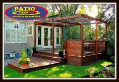 patio en bois modele ipe 2017 (17) Pergola, Deck, Outdoor Structures, Cabin, House Styles, Design, Home Decor, Wood Patio, Gypsy Wagon