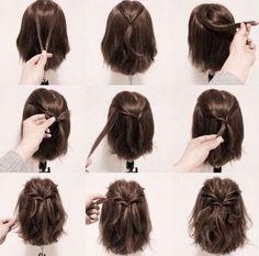 Peinados para corte bob: Los mejores [FOTOS] - Semirrecogido con twist para pelo bob