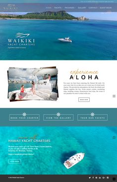 Waikiki Yacht Charters is a beautiful Small Business style website designed by Julie Harris Design for a private yacht charter company based out of Waikiki, Hawaii. This is a WordPress built using...