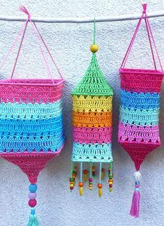 Crochet Hook Sizes, Crochet Hooks, Free Crochet, Knit Crochet, Summer Decoration, Crochet Decoration, Crochet Lamp, Hippie Crochet, Crochet Shirt