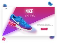 Nike Website design designed by Aymane Helfa. Connect with them on Dribbble; Website Design Layout, Website Design Inspiration, Layout Design, Ad Design, Sport Design, Shoe Poster, Nike Website, Shoes Ads, Shoes Photo