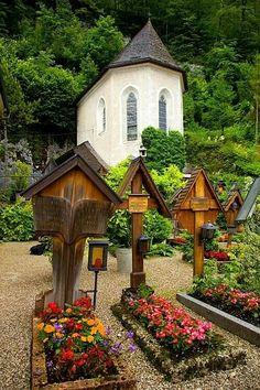 Church cemetery, Halstatt,  Austria