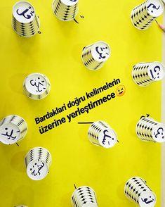 Cezimleri öğreniyoruz 🤗 #cemrekoleji #harfler #elifba #etkinlik #etkinlikpaylasimi #cezim #bardak #bardakoyunu #eğlence #eğlenereköğren Thing 1, Arabic Language, Islam, Instagram, Alphabet, Alpha Bet