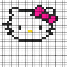 Hello Kitty Head bead pattern