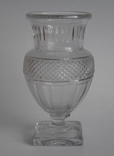 Mullock's Auctions - Early 20thC Baccarat cut glass vase: Baccarat cut...