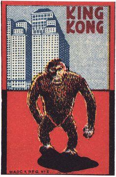 King-kong matchbox cover