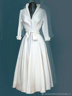 Amazing white shirt dress Miladies net is part of Soft Edgy fashion Band Tees - Amazing white shirt dress Miladies net Elegant Dresses, Pretty Dresses, Vintage Dresses, Casual Dresses, Vintage Outfits, Vintage Fashion, 50s Dresses, French Fashion, Classy Dress