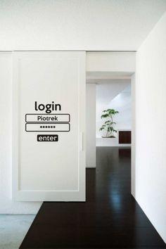 Login - naklejka na drzwi - Pakamera.pl