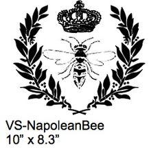 Napolean Bee Stencil - backs of chairs?