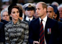 Kate and William were both dressed in dark, sombre colours for the occasion