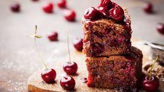 Cherry Bread, Cherry Bars, Brownie Recipes, Chocolate Recipes, Kakao Brownies, Muesli Slice, Cherry Brownies, Roasted Pecans, Cake Chocolat