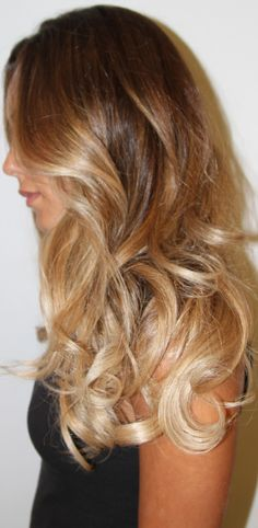 blond ombre~ i think this will probably be the end result with my hair. if i had to guess. pretty! it's a little shorter now, not as blond at the end. but with a few more visits...