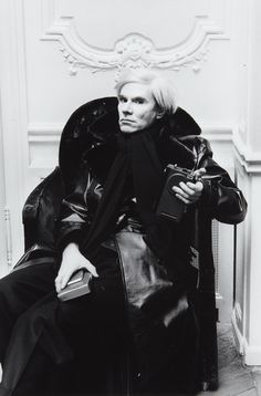 Andy Warhol by Helmut Newton, Paris, 1975