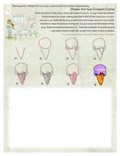 how to draw ice cream cone step by step