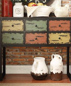 Look what I found on #zulily! Uptown Six-Drawer Console Table by HomeBelle #zulilyfinds