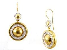 24K Gold Diamond Moonlight Earrings by GURHAN