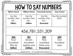 Savings Challenge Discover Building Number Sense Freebie - Young Teacher Love How to Say Numbers FREE Printable -Building Number Sense FREEBIE - Young Teacher Love by Kristine Nannini Math Teacher, Math Classroom, Teaching Math, Classroom Ideas, Kindergarten Math, Teaching Tools, Teaching Ideas, Preschool, Fifth Grade Math