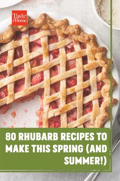 Dig into our favorite sweet and savory rhubarb recipes. There's something here for every meal of the day!