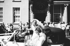The bride arrives | Chrisy and Mairead | Wedding Photography Northern Ireland #vintage #throwback #classic #blackandwhite