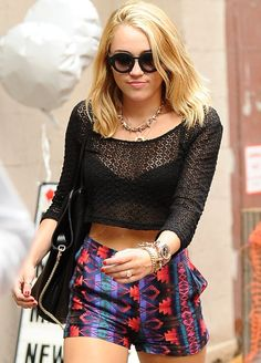 Miley Cyrus 2012 Street Style in Ecote Shorts