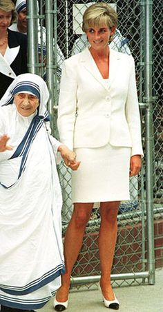 this photo was taken months before they both died.  Interestingly Mother Theresa died in the shadow of the controversy that ensued Diana's Death. Her humility endured even after Death in that she received little western media coverage. Diana's beauty endured in her quiet innocence and the Worlds hunger for her image