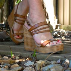 Everyone should own a pair of tan wedges. These go with everything and make you legs look long. Lilliana Nai Wedges.