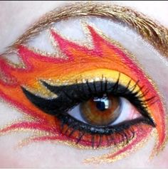 Hunger Games Girl On Fire inspired Makeup
