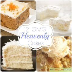 Heavenly Cake Recipes - Celebrate Valentine's day with guilt free, easy cake recipes!