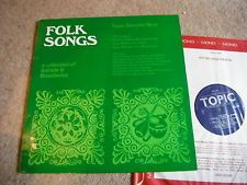 FOLK SONGS TOPIC SAMPLER NO 6 SHIRLEY COLLINS WATERSONS  RARE FOLK LP 1967 N/M