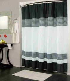 Black And White Shower Curtain UK Bathroom Decor Accessories