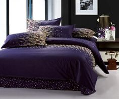 Purple comforter sets deep bedding design ideas decorating with dark 6 for teenage girl .