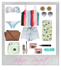 """Picture Perfect Look Summer Style Guide #7"" by koolkatefashions ❤ liked on Polyvore featuring Polaroid, Chloé, House of Harlow 1960, Michael Kors, Mara Hoffman, Maybelline and COOLA Suncare"